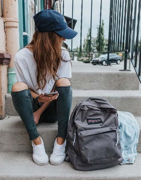 plecak szkolny nastolatki outfit